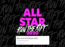 VCS mở cổng bình chọn All-Star 2020 qua... Google docs, game thủ ném đá kịch liệt vì quá 'phèn'