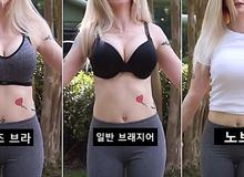 """Làm thí nghiệm """"rung lắc"""" vòng một với 3 loại áo xem phương án nào hại ngực hơn, nữ Youtuber khiến người xem bất ngờ khi biết kết quả"""