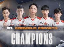 Cerberus lấy lại vị thế 'ông trùm quốc nội' sau khi lên ngôi vô địch POPS eSports PUBG Invitational