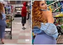 Không mặc nội y rồi tụt áo để xem phản ứng của người qua đường, hot girl Playboy khiến nhiều người ném đá, chỉ trích