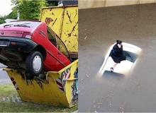 Những tai nạn ngớ ngẩn của hội mới học lái xe đã đi chơi Giáng Sinh