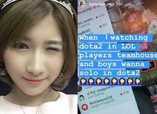 Vừa mới gia nhập mái nhà Secret, các thành viên team LMHT Việt Nam đã 'gạ solo' với nữ caster DOTA2