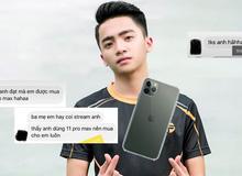 """Bố mẹ mê game, ghiền xem stream của Đạt Kòii, con trai """"vô tình"""" được tậu hẳn iPhone 11 Pro Max xịn sò"""