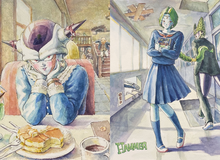 Chết cười loạt tranh vẽ fan art các nhân vật phản diện Dragon Ball trở thành... nữ sinh trung học