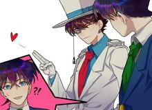 """Kaito Kid và Shinichi khiến fan gato vì """"tình bể bình"""" trong loạt fan art mùi mẫn"""