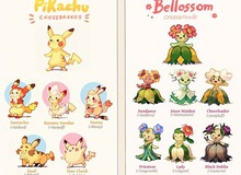 Nhân chéo giống loài, các Pokemon thế hệ mới được tạo ra không những phong phú còn đẹp quên sầu