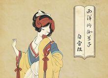 Khi các nàng công chúa Disney hiện lên dưới phong cách vẽ truyền thống Nhật Bản