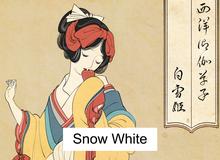 """Công chúa Disney qua """"bàn tay ma thuật"""" của nghệ sĩ được tái hiện theo phong cách truyền thống Nhật Bản"""