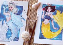 Các nàng công chúa Disney hóa thân thành nàng tiên cá, ai mới là người xinh đẹp nhất?