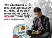 Cộng đồng mạng tán thưởng hành động đẹp của Bomman: dành toàn bộ tiền donate để ủng hộ chiến dịch chống Covid-19