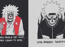 Giật thót khi thấy dàn nhân vật trong Naruto được vẽ theo phong cách đầu lâu kinh dị