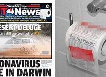 Báo Úc được khen nức nở vì in thêm 8 trang cho bạn đọc làm giấy vệ sinh