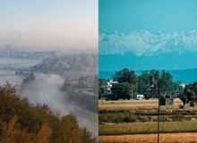 Lần đầu tiên trong suốt hơn 30 năm, người dân Ấn Độ có thể nhìn thấy dãy Himalaya hùng vĩ từ xa do tác động của dịch Covid-19