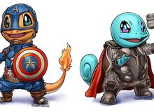 """Siêu anh hùng Marvel biến thành Pokémon siêu dễ thương nhưng vẫn """"chất hơn nước cất"""""""