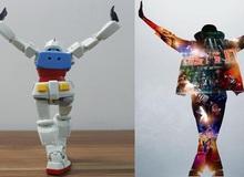 """Quá thần tượng Michael Jackson, fan làm hẳn clip """"cosplay"""" điệu nhảy của ông hoàng nhạc Pop bằng Gundam"""