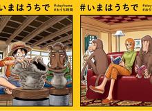 """One Piece: Bộ ba quái vật băng Mũ Rơm trở thành """"tấm gương"""" kêu gọi mọi người """"hãy ở nhà"""""""