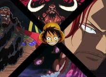"""One Piece: Tuy đã có cơ hội gặp cả 5 Tứ Hoàng, nhưng Luffy chưa 1 lần nào có thể """"cạnh tranh"""" với họ"""