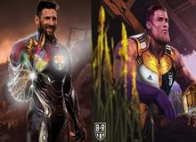 """Khi các siêu sao Messi, Ronaldo, Salah hóa thân thành Thanos, ai xứng đáng trở thành """"trùm"""" của bóng đá sân cỏ?"""