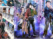 Kimetsu no Yaiba: Dàn Thợ Săn Quỷ xuyên không đến thế giới hiện đại qua loạt fan art cực chất