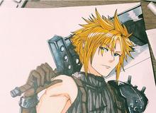 Cter trổ tài vẽ Cloud Strife trong Final Fantasy VII Remake siêu đẹp