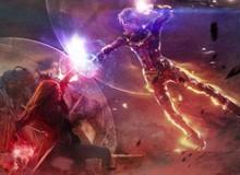 Bức ảnh tái hiện trận chiến giữa Captain Marvel vs Scarlet Witch- 2 nữ anh hùng mạnh nhất MCU gây xôn xao dư luận