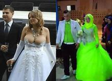 Những cô dâu bỗng hóa tuồng chèo khi khoác lên mình những thảm họa váy cưới