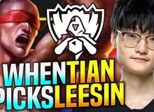Cầm Lee Sin leo rank Hàn, ĐKVĐ thế giới Tian bị đồng đội chửi 'không biết chơi con này thì đừng có pick'
