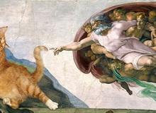 """Chết cười loạt ảnh chế mèo béo trở thành """"nàng thơ"""" trong các bức họa nổi tiếng"""