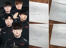 """""""Cô hàng xóm"""" của T1 khoe ảnh chữ ký chính chủ Faker, nhắn nhủ đến con trai: Thỏa mãn rồi thì bớt chơi LOL lại đi nhé!"""