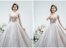 Trâm Anh hớn hở khoe bộ ảnh chụp váy cưới, lấp lửng ẩn ý muốn công khai chú rể