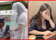 Bạn trai quá bận, cô gái tự mình mặc váy cưới và cầm hoa đến cầu hôn khiến dân tình cảm động