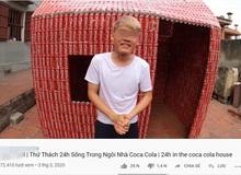 """Thử thách xây nhà bằng 5.000 lon coca, con trai bà Tân Vlog khiến cộng đồng mạng ngán ngẩm """"Lại học ai đó"""""""