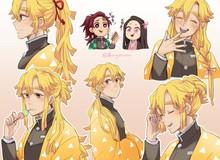 Kimetsu no Yaiba: Ngắm Zenitsu thay đổi diện mạo từ khi để tóc ngắn cho đến dài thướt tha
