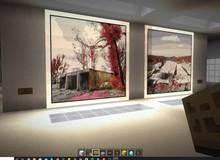 Nhiếp ảnh gia tạo phòng triển lãm ảo trong Minecraft để gây quỹ từ thiện