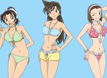 """Thám tử lừng danh Conan: Ngắm người yêu Shinichi mặc bikini khoe 3 vòng bốc lửa mà """"không thể rời mắt"""""""