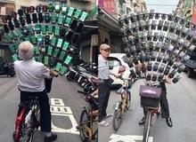 Ông lão nổi tiếng nhờ chơi Pokemon Go trên xe đạp vừa nâng cấp lên dàn 64 chiếc smartphone