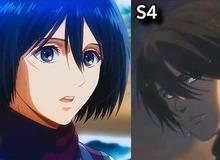 """Ngắm quá trình """"dậy thì nhan sắc"""" của dàn nhân vật Attack On Titan qua 4 Season anime"""