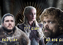 Sở hữu dàn nhân vật chính cực hùng hậu nhưng ai mới là người được lên hình nhiều nhất trong Game of Thrones?