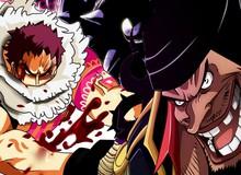 One Piece 985: Râu Đen đã tới Đảo Bánh, Katakuri oằn mình chống đỡ 1 băng tứ hoàng?