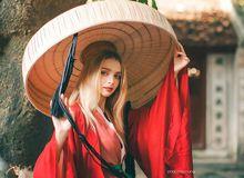 Cư dân mạng ngẩn ngơ trước bộ ảnh hotgirl Ukraine diện trang phục truyền thống của Việt Nam
