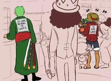 Chết cười với loạt ảnh chế Zoro đi lạc, không những tìm thấy One Piece mà còn xuyên không sang cả Naruto
