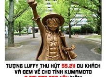 One Piece: Chỉ với với 1 bức tượng Luffy, nhóm sinh viên ở tỉnh Kumamoto đã kiếm về gần 3 tỷ yên một năm