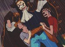 One Piece: Hình ảnh Shanks và Buggy nép người bên cạnh Vua Hải Tặc đã được lên sóng anime khiến fan thích thú