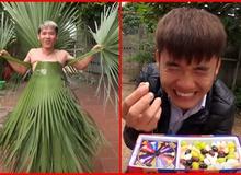 """Dính tới đồ ăn thì bị chê lãng phí, Hưng Vlog trở lại Youtube sản xuất video với """"đạo cụ"""" là lá cây"""