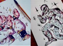 Giật mình khi thấy các nhân vật trong Dragon Ball được vẽ theo phong cách zombie