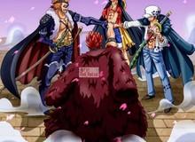 """One Piece: """"Nổi da gà"""" với hình ảnh Luffy cùng bộ ba Siêu Tân Tinh tập hợp, họ sẽ là những người đánh bại Kaido?"""