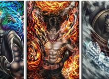 One Piece: Cân đo sức mạnh bộ ba chỉ huy dưới trướng Tứ Hoàng lại đau lòng vì Ace đã hy sinh