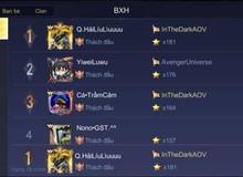 Liên Quân Mobile: Lại xuất hiện Top 1 Thách Đấu nhưng chỉ đứng bét trên BXH Đấu Trường Danh Vọng