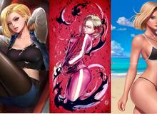 Dragon Ball: Androi 18 khoe trọn đường cong nóng bỏng qua loạt fan art đẹp mê ly