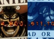 """One Piece: Mức truy nã của Vua Hải Tặc và Tứ Hoàng đã được thể hiện trong anime, nhìn lại vẫn thấy toàn """"số khủng"""""""